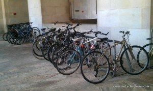 parkedbikes 300x179 Women key in growing biking for transportation