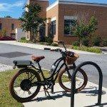 Pedego at Bike Walk Greenville Meeting Bike Parking